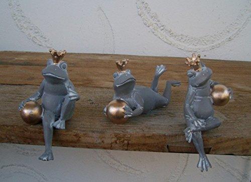 Dekorative Frösche Froschkönige Kantenhocker Frosch 3 St. Impressionen