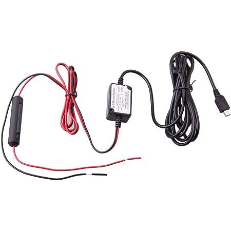 Dash Cam/éra Hard Wire Kit Mini USB Dash Cam 10 Pied Hardwire et Fuse Kit pour Dash Cam/éra Alimentation Chargeur de Voiture GPS Voiture DVR Power Box Gauche Ange Mini USB et Fuse Kit