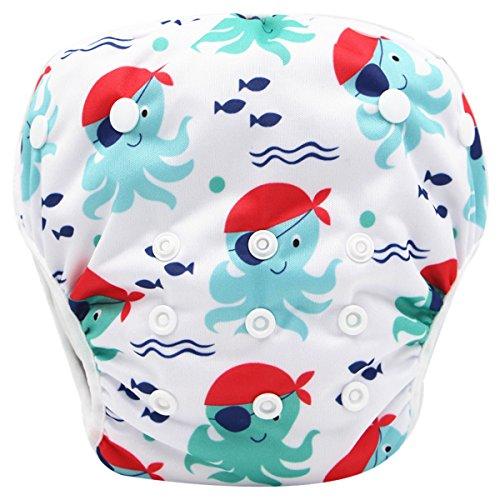 Storeofbaby Pañales de bebé para bebés Pantalones cortos lavables reutilizables para niños y niñas de 0 a 3 años