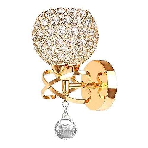 Moderne kristallen wandlamp LED creatieve wandlamp wandlamp voor slaapkamer, woonkamer, hal, eetkamer, bed, houder E14 fitting