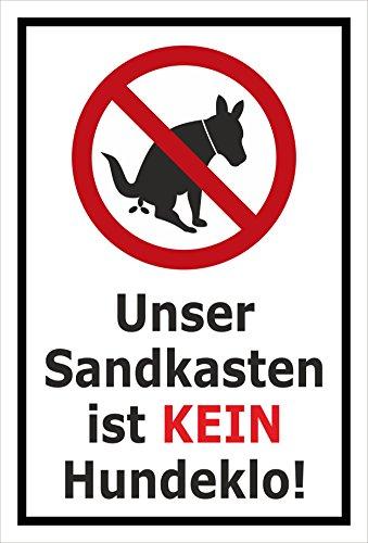 Melis Folienwerkstatt sticker schild - zandbak - Kein Hondenlo 60x40cm – Aluverbundplatte – ohne Bohrlöcher