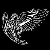 ZDZCLI 黒/銀ビニールで18.8 * 14.4CMカーステッカー天使の女の子 (Color : Silver)
