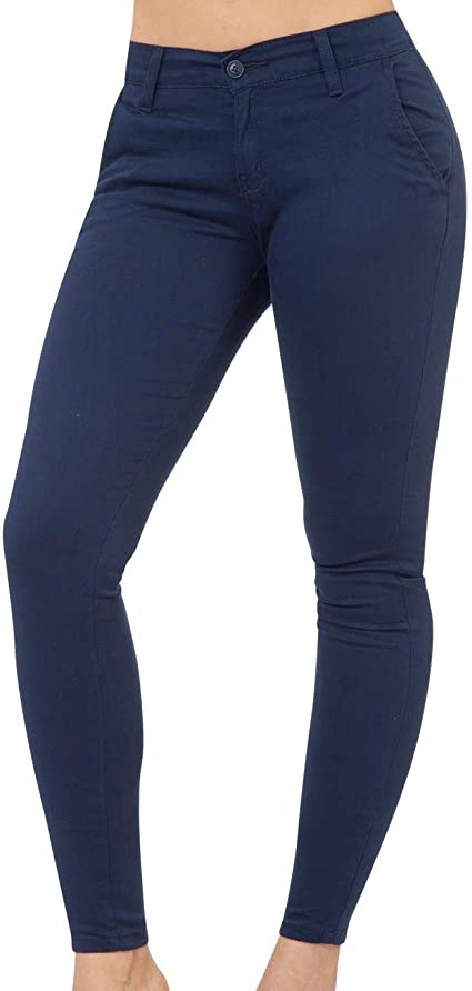 Pantalon Oggi Jeans Mujer Marino Gabardina Stretch Chinos Skinny Amazon Com Mx Ropa Zapatos Y Accesorios