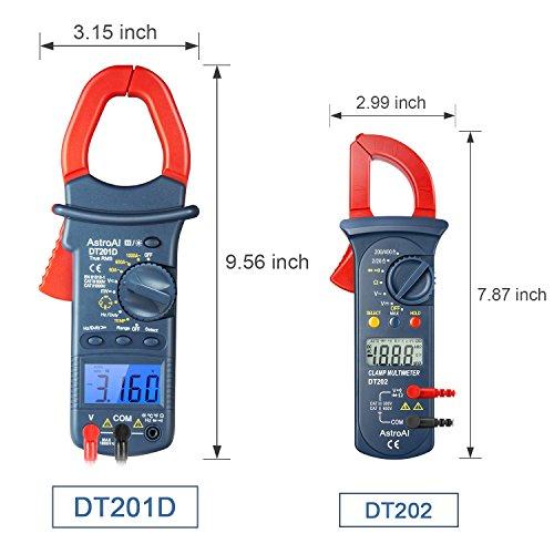 AstroAI Pinza Amperimétrica Profesional RMS, Multímetro Digital Automático,...