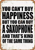幸福は買えないが、サクソフォンは買えるブリキ看板