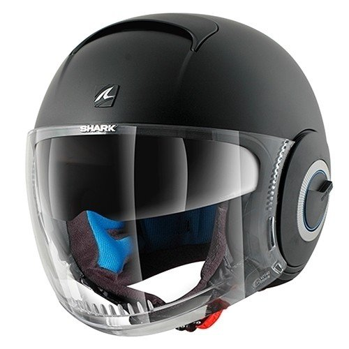 Shark Nano Casco Jet, Negro Mate, L (59/60)