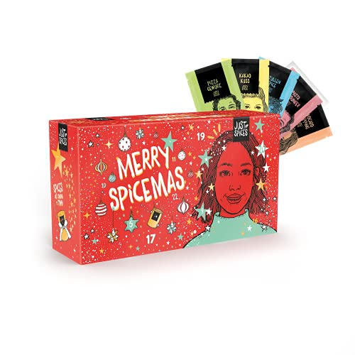 Just Spices Kleiner Gewürz Adventskalender 2021 I Weihnachtskalender mit 24 Gewürzmischungen + Rezepten I Hochwertige Gewürze als Geschenk für Männer und Frauen (2021) (2021)