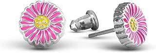 Daisy Earrings For Women And Teens | Hand Painted Flower Earrings Studs | Hypoallergenic Earrings