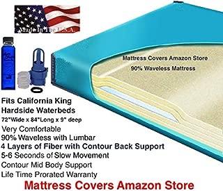 California King 90% Waveless Waterbed Mattress with Lumbar Support
