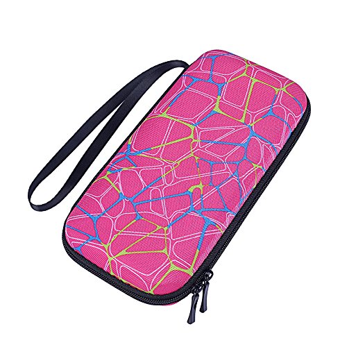 Esimen Travel Case for Texas Instruments TI-Nspire CX II/Nspire CX CAS Graphing Calculator Hard Carry Case Travel Bag Protective Pouch Box -Extra Room for Pen and Accessories (Hard Pink)