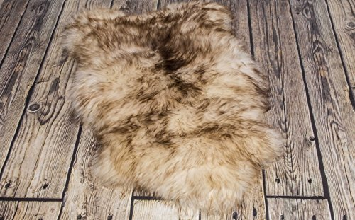 Spiced Brown Sheepskin Rug | Genuine | Thick Wool (M: 110-120 cm)