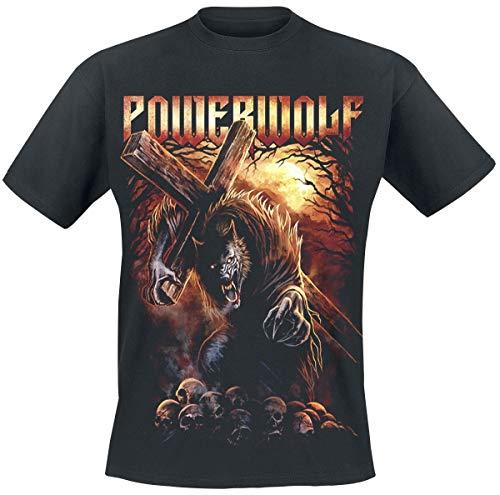 Powerwolf Via Dolorosa Männer T-Shirt schwarz XL 100% Baumwolle Band-Merch, Bands