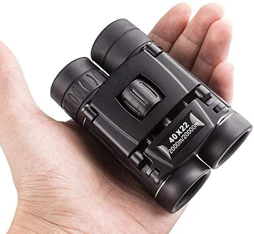 Binoculares para Adultos, de Mano de Bolsillo Binocular Field Mini 40x22 Telescopios HD Potentes prismáticos con Zoom para Viajes...