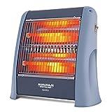 Maharaja Whiteline Plastic Quato 800-Watt Quartz Heater, Standard, Grey