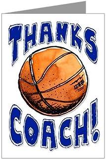 "BASKETBALL 3 件装""谢谢杰出的 BASKETBALL Coach!"" SPORTS POWERCARD 贺卡 (5x7) 非常适合青年团队运动 - 表达""谢谢!"" - COACH will love it! #AllProfitsToHelpKids"