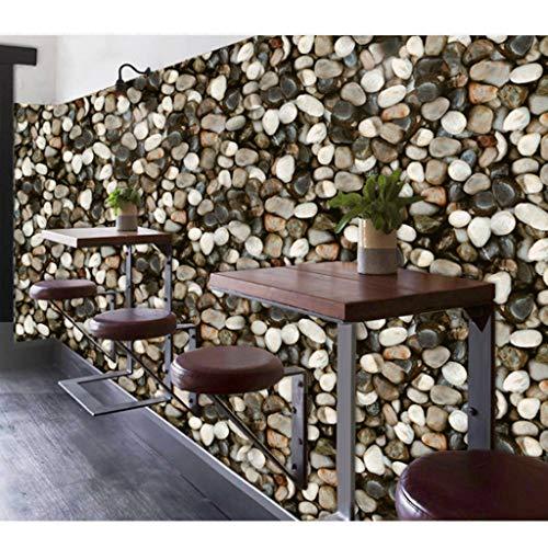 LYC Behang lijm 3D Behang Behang Stenen patroon Mode voor de achtergrond van kledingwinkel Restaurant bar 0,53 * 10m1 / Rol