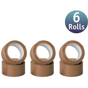 6 Pack] Cinta de embalar/cinta adhesivas - Cinta adhesiva de embalar varios colores y tamaños (48mm x 40m, Marrón): Amazon.es: Bricolaje y herramientas
