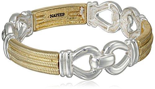 Napier 'Gold Rush' Two-Tone Link Stretch Bracelet