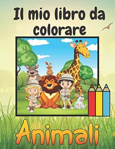 Il mio libro da colorare animali: Libro da colorare Semplice e in cifre Per bambini e adulti   Libro da colorare per bambini   +70 Disegni da colorare   Regalo per bambina   Grande formato