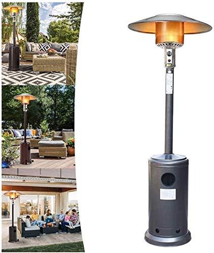 LAZNG - Calentador de gas para patio, calentador radiante infrarrojo, calentador de terraza de pie, ajustable para restaurante y jardín