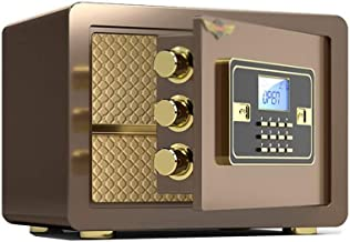 LLRYN Electronic Digital Security Safe Box, Cabinets Wall Safe Lock Box Cash Strongbox with Number Keys Emergency Lock
