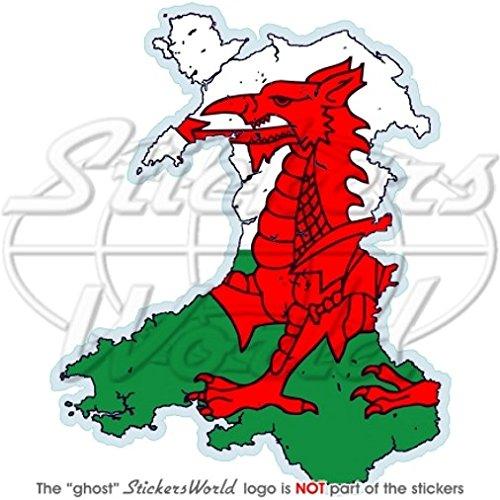 WALES Welsh Kaart-vlag CYMRU Britse 4.3
