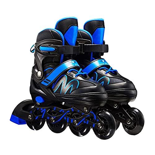 Herren- und Damen-Inline-Skates, Profi-Skates, Inline-Skates, Blau Geeignet für Erwachsene, Kinder und Anfänger