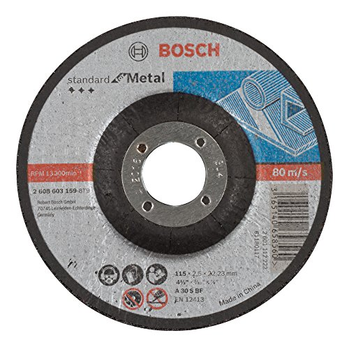 Bosch 2 608 603 159 - Disco de corte acodado Standard for Metal - A 30 S BF, 115 mm, 22,23 mm, 2,5 mm (pack de 1)