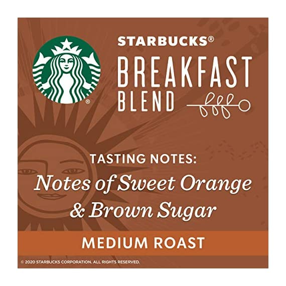 Starbucks Medium Roast K-Cup Coffee Pods — Caramel for Keurig Brewers — 6 boxes (60 pods total) 9 FLAVOR AND ROAST: A lighter, gentler take on the Starbucks roast, Starbucks Veranda Blend is flavorful without being overly bold PACKAGING CHANGE: We are currently updating our packaging look. You may receive either package for a limited time FOR KEURIG BREWERS: Starbucks K-Cup pods are designed for use with the Keurig Single Cup Brewing System