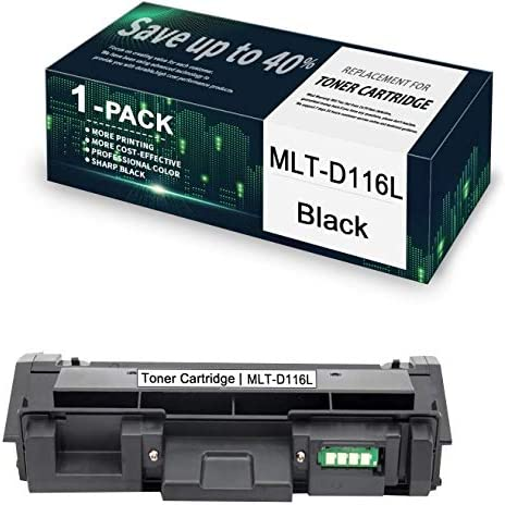 1 Pack Black MLT D116L Compatible Toner Cartridge Replacement for Samsung Xpress M2825DW M2825WN product image