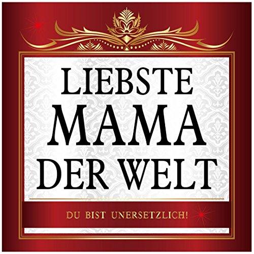 Udo Schmidt Sticker Liefste Mama der Welt Sticker 10 x 10 cm Moederdag