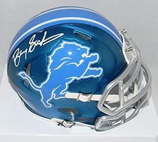 Barry Sanders Autographed Signed Detroit Lions Speed Blaze Mini Helmet Schwartz - Authentic Signature