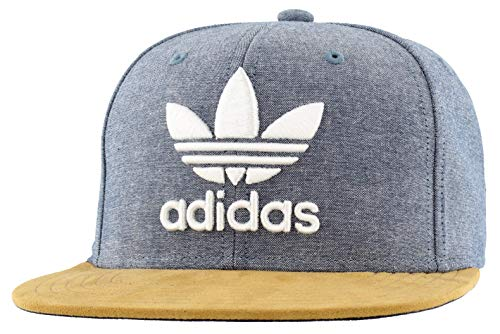 adidas Herren Originals Trefoil Plus Snapback Cap, Collegiate Navy Chambray/Tan Suede/Weiß, Einheitsgröße