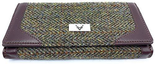 Traje de neopreno para mujer de tipo billetera 100% Harris Tweed marrón Herringbone LB2000COL5