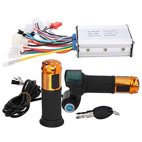 Alomejor 24V/36V 350W Brushless Controller mit Gasgriff Elektromotor Brushless Controller mit Digitalanzeige Drosselklappengriff-Kit
