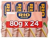 Rio Mare - Tonno all'Olio di Oliva, Qualità Pinne Gialle, 24 Lattine da 80 g