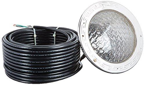 Pentair 78415100 Amerlite Underwater Incandescent Pool Light with Stainless Steel Face Ring, 12 Volt, 100 Foot Cord, 100 Watt