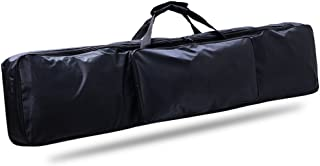 88 Key Piano Keyboard Gig Bag, Waterproof 88-Key Keyboard Case Nylon Extra Pockets for Electric Piano with Adjustable Port...