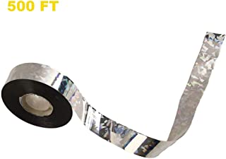 HICI Bird Repellent Scare Tape Scare Ribbon Silver 500 FT Bird Deterrent Reflective Tape for Birds Effective for Woodpeckers Pigeons Grackles 500FTx1