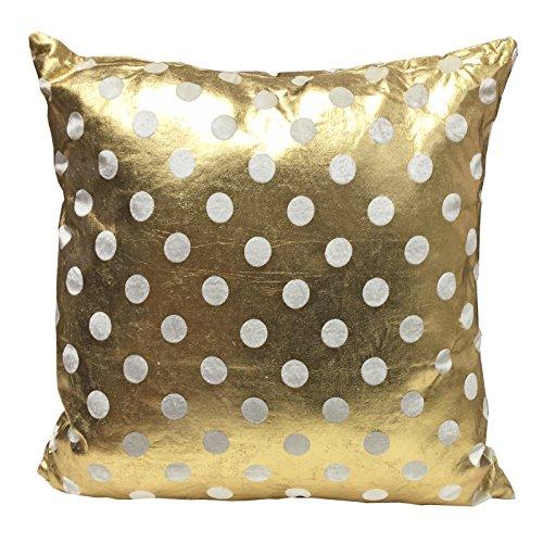 Just Contempo–Cojín, Mezcla de algodón, Dots Gold 45x45cm, 45 x 45 x 9 cm