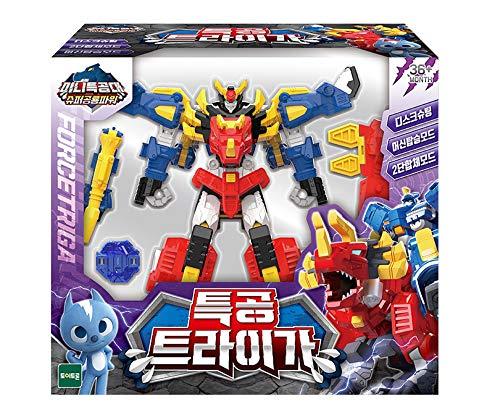 Miniforce Force Triga Super Dinosaur Power Action Figure Transformation Toy Robot