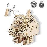 ROKR 3D Wooden Kit-Laser Cutting Music Box Musicale-Modelli Meccanici Giocattoli per Adulti e Adolescenti-Seymour