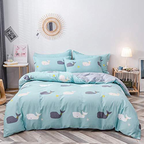 LDDPP - Set di lenzuola per letto king size, in cotone fresco, quattro pezzi, morbido e senza pieghe, ipoallergenico, con tasca profonda con angoli, 4 pezzi per letto king size, Morita, 6.5ft bed