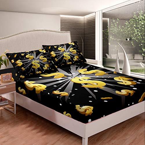 US Dollar, set di biancheria da letto in americano, design moderno, lenzuolo con angoli inda letto, 3 pezzi lenzuola matrimoniali