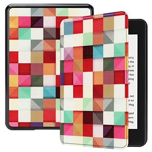 Beschermhoes voor Amazon Kindle Paperwhite 4, Saturcase, mooi PU-leer, Flip Folio, ultradun, licht, beschermhoes met…