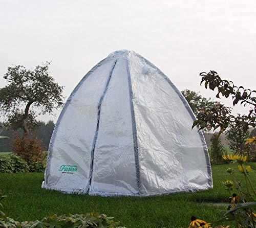 Florino Foliengewächshaus, Gewächshauszelt, Überwinterungszelt Größe L, Ø240x200 cm