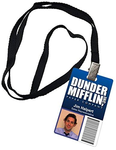 pamJim Halpert Dunder Mifflin Inc. Novelty ID Badge The Office Prop Costume