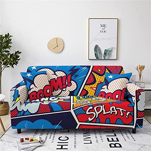 Fashion Big Flower Cartoon Series Copridivano Copertura Completa Antiscivolo Copridivano Elastico Grande Colore Universale Asciugamano per Divano all-Inclusive per Hotel E Casa
