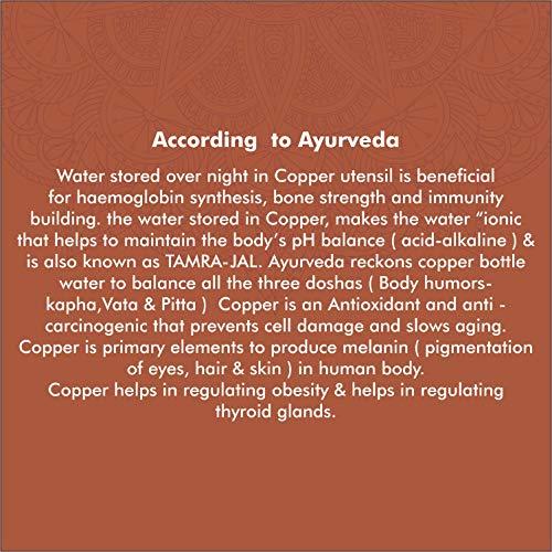 Cello Cop-Pura Diva Ornate Copper Water Bottle, 1000ml, 1pc, Copper