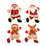 Anyingkai 4PCS Adornos árbol Navidad Colgantes Muñecos,Colgantes de Navidad Adorno Navideño,Adornos árbol Navidad Colgantes,Navidad Adornos Colgantes,Colgantes de Navidad